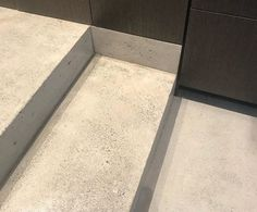 Finish on concrete stairs
