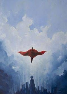 metal canvas Paintings popculture superman metropolis steel