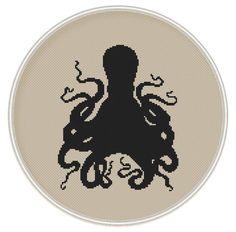 Octopus Сross stitch pattern, cross stitch PDF / JPEG, Instant Download, Free Shipping, Kraken, Vintage cross stitch, MCS019 par MagicCrossStitch sur Etsy (null)