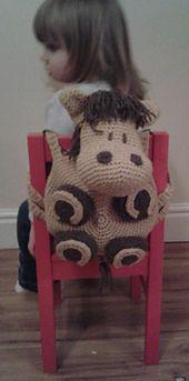 Ravelry: Horse, Crochet Pattern, Backpack, Bag, Rucksack, Beginner, Animal Bag, Toddler, Kid, Childs, Pyjama Case, Amigurumi, Henry pattern ...