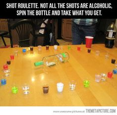 Shot Roulette. Dangerous @Heather Brenner We need this.