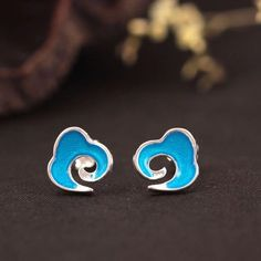 Cheap stud earrings, Buy Quality stud earrings for women directly from China earrings for women Suppliers: Flyleaf 925 Sterling Silver Enamel Auspicious Clouds Stud Earrings For Women High Quality Elegant Lady Sterling-silver-jewelry Christmas Deals, Christmas Gifts, Silver Enamel, 925 Silver, Silver Rings, Cloud Shapes, Moon Necklace, Women's Earrings, Sterling Silver Jewelry