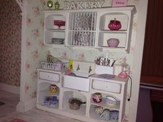 Shabby chic dollhouse kitchen