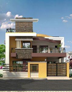 2 Storey House Design, Bungalow House Design, House Front Design, Small House Design, Casa Mix, Indian House Plans, House Design Pictures, Kerala House Design, Dream House Exterior