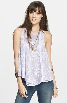 Free People 'Miss Mackenzie' Lace A-Line Tank #nordstrom @freepeople1234