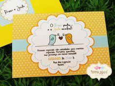 Convite Noivado - Love Birds | Tamires Jobard Personalizações - Tudo Personalizado para sua Festa | 38EC9C - Elo7