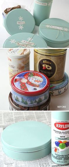Reuse old Tins. Perfect for storage or gifting.