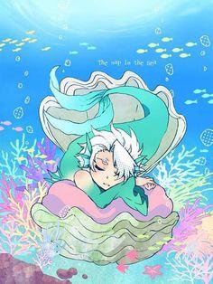 Фотография Toushirou Hitsugaya as a little mer-man! Bleach Fanart, Bleach Anime, Ichigo Y Orihime, Video Game Anime, Fan Art, Shinigami, Manga, Types Of Art, Fantasy Creatures