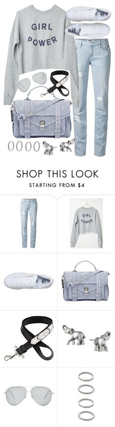 """Untitled #19507"" by florencia95 ❤ liked on Polyvore featuring Paige Denim, adidas, Proenza Schouler, Givenchy, Lonna & Lilly, Victoria Beckham, Forever 21, women's clothing, women's fashion and women"