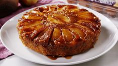 This version of Caramel Apple Upside Down Cake by Delish is Yummy! It is one of our favorite desserts and it is sure to impress. Cake Recipes Without Eggs, Apple Dessert Recipes, Fall Dessert Recipes, Fall Desserts, Apple Recipes, Cookie Recipes, Pumpkin Recipes, Fall Recipes, Food Cakes