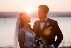 Sonnenuntergangsfoto | Hochzeit am See | Bodensee | Konstanz Photo by Aida & Tim Hochzeitsfotografie Wedding Dresses, Fashion, Wedding Photography, Gown Wedding, Ideas, Bride Dresses, Moda, Bridal Gowns, Wedding Dressses