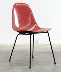 Fred Lowen; Fiberglass and Enameled Metal 'FG' Chair for Fler, 1950s.