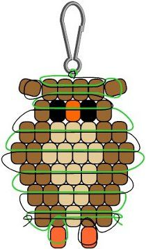 Owls are all the rage! Make a simple Pony Bead Owl Pendant to wear on a cord or chain.