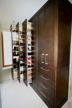 Awesome Contemporary Closet With Shoe Cabinet Using Wooden Accents  Connected With Wooden Dresser On White Part 71