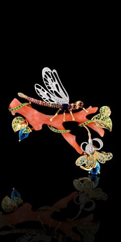 Master Exclusive Jewellery - Коллекция - World of insects Coral Jewelry, High Jewelry, Jewelry Art, Antique Jewelry, Vintage Jewelry, Jewelry Design, Insect Jewelry, Animal Jewelry, Purple Diamond