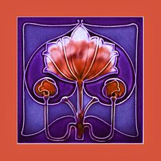 """100 Art Nouveau tile by Wade (1906). Courtesy of Robert Smith from his book """"Art Nouveau Tiles with Style"""""""