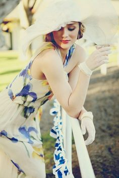moschino dress | louise green hat | Photo by Annie Edmonds