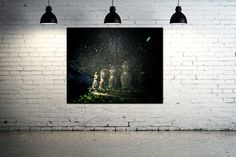 Idols  36.2 x 28.7 92 x 73 cm от TatianaZappaArt на Etsy