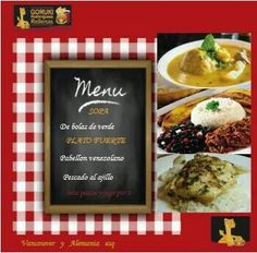 Ven a comer el menu de 6 de julio  en Goruki restaurante.