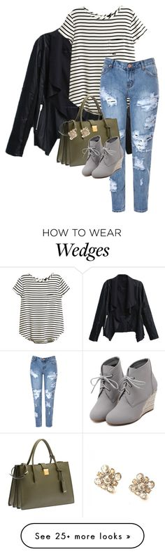 """☕️"" by em02 on Polyvore featuring H&M, Glamorous, Miu Miu, WithChic and Chanel"