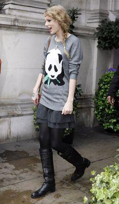 Panda shirt with skirt