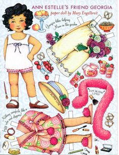 Uncut Paper Doll by Mary Engelbreit Georgia in the Garden