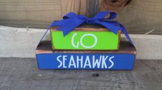 Go Seahawks Stacker Blocks by BountifulCrafts on Etsy, $12.00