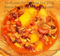 Spatulas On Parade: Black Bean and Butternut Squash Chili