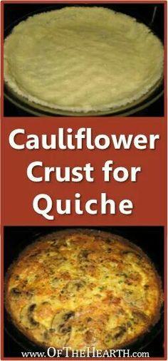 Quiche with a cauliflower crust