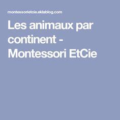 Les animaux par continent - Montessori EtCie