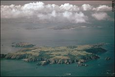 Beautiful aerial view of Sark