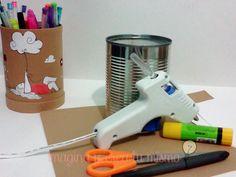 ¿Cómo reciclar latas vacías? Con estos geniales portalápices