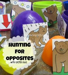 Egg Hunt for Opposites from School Time Snippets
