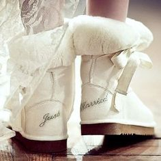 8260a29e03 Just Married Cupid Wedding Boots - Wedding Shoes - Crystal Bridal  Accessories Any reason to wear Uggs