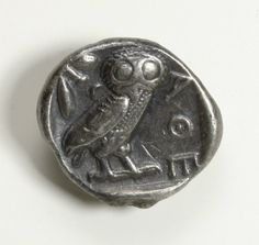 Greek Athenian Silver Tetradrachm Owl Coin : Lot 46A