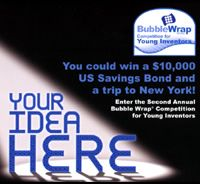 Bubble Wrap® Pops Up with Young Inventors Contest  You use it to wrap fragile items and pack them up safely. You trust it to keep your delicate vases free from cracks and scuffs on the way home from the store.