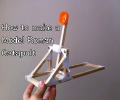 Full instructions and video for how to make a model Roman catapult!