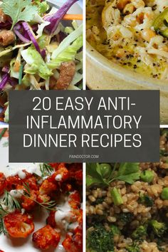 20 Easy AntiInflammatory Dinner Recipes That Will Make You Feel Great PainDoctor com antiinflammatory healthy dinnerrecipes recipes is part of Anti inflammatory recipes dinner - Anti Inflammatory Foods List, Anti Inflammatory Smoothie, Clean Eating Snacks, Healthy Eating, Clean Eating Dinner Recipes, Eating Vegan, Endo Diet, Autoimmune Diet, Healthy Recipes