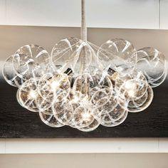 DIY~ Bubble Chandelier with Globe Lightbulbs
