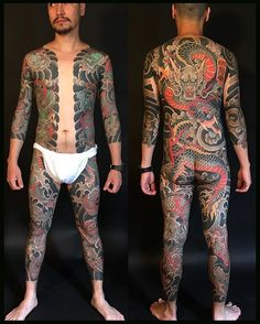 Asian full body tattoo