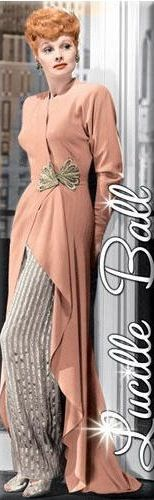 Love this dress....and Lucy looks great in this Salmon color.