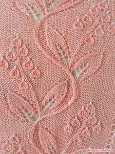 Yarn: This shawl is worked with Australian merino wool yarn g), and decorated with beads. # merino wool yarn free pattern Paradise Apples pattern by Alla Borisova Knitting Stitches, Knitting Yarn, Knitting Machine, Free Knitting, Knit Patterns, Stitch Patterns, Sheep And Wool Festival, Animal Fibres, Sheep Wool
