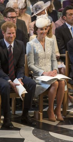 Look at Prince Harry with Duchess Kate. Seriously, Harry is so swoon worthy.