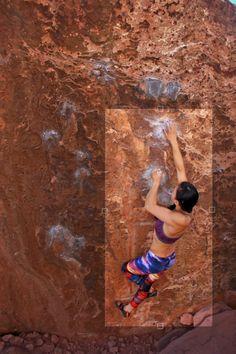 rock climbing girls Hairy