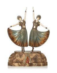 DOLLY SISTERS', A RARE ART DECO SCULPTURE, 1925