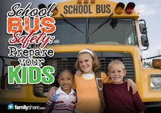 Sending the kids back to school?  Check out these school bus safety tips to prepare your kids for a fun and safe ride.