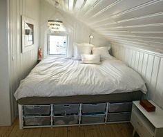 attic space renovation - add skylight and book shelves
