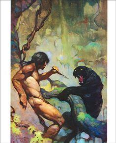 Frank Frazetta, Tarzan, Image Comics, Ink Illustrations, Book Illustration, Ghost Rider, Birdman, Watercolor Paintings Abstract, Painting Art
