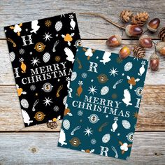 Harry Potter Ravenclaw & Hufflepuff Christmas cards