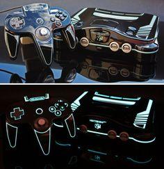 TRON Legacy themed Nintendo 64